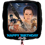 "The Force Awakens Happy Birthday Balloon - 18"" Foil"