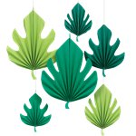 Palm Leaf Paper Fan Decorations