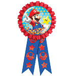 Super Mario Confetti Filled Award Ribbon