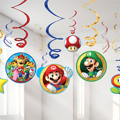 Super Mario Hanging Swirls