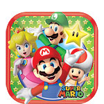 Super Mario Plates - 17cm Paper Party Plates