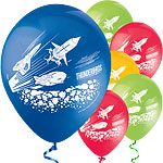 "Thunderbirds Printed Balloons - 12"" Latex"