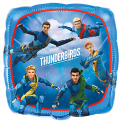 "Thunderbirds Square Balloon - 18"" Foil"
