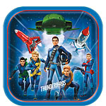 Thunderbirds Square Plates - 23cm Paper Party Plates