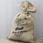A Vintage Affair Hessian Burlap Wedding Cards Sack