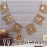 A Vintage Affair Hessian 'Love' Wedding Bunting - 2m