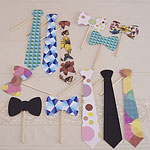 A Vintage Affair Wedding Photo Booth Tie Props