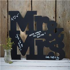 A Vintage Affair Mr Mrs Wooden Chalkboard Guest Book