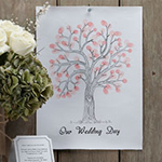 A Vintage Affair Wedding Fingerprint Tree Pink