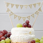 A Vintage Affair - 'Just Married' Wedding Cake Bunting