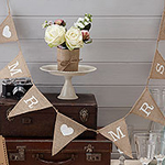 A Vintage Affair Hessian 'Mr & Mrs' Wedding Bunting - 1.5m