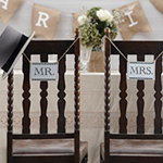 A Vintage Affair 'Mr & Mrs' Wooden Wedding Signs