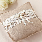 A Vintage Affair Wedding Ring Cushion