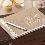 A Vintage Affair Hessian Wedding Guest Book