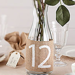 A Vintage Affair - Hessian Table Numbers 1-12