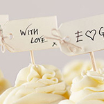 A Vintage Affair - Ivory Label Cupcake Picks
