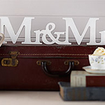 A Vintage Affair 'Mr & Mrs' Wooden Wedding Sign
