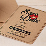 A Vintage Affair Wedding Save the Date Cards