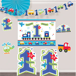 All Aboard 1st Birthday Room Decorating Kit
