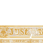 Holographic Just Married Wedding Foil Banner - 2.7m