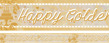 Holographic Golden Anniversary Foil Banner - 2.7m