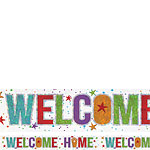 Holographic Welcome Home Foil Banner - 2.7m