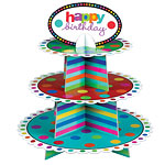 Happy Birthday Cup Cake Stand - 3 Tier
