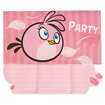 Angry Birds Pink Invites - Party Invitation Cards