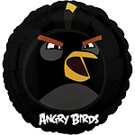 "Angry Birds Black Balloon - 18"" Foil"