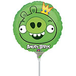 "Angry Birds Pig Balloon - 9"" Mini Foil Airfilled Balloon"