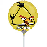 "Angry Birds Yellow Balloon- 9"" Mini Foil Airfilled Balloon"