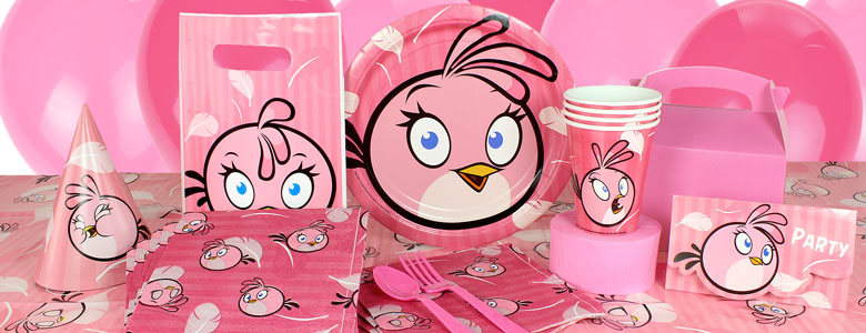 Pink Angry Birds Party Supplies