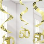 50th Anniversary Hanging Swirls Party Decoration