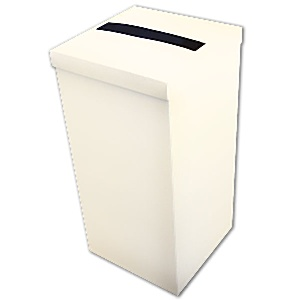 Favour Boxes Ivory Silk Post Box