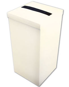 Ivory Silk Wedding Post Box