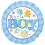 "18"" It's A Boy Foil Balloon"