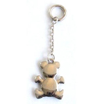 Metal Silver Teddy Bear on Keychain