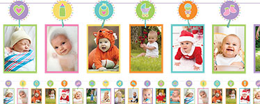 Baby Shower Baby Photo Garland