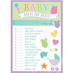 Baby Shower 'Guess the Price' Game
