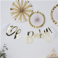 Oh Baby Gold Foiled 'Oh Baby!' Letter Banner
