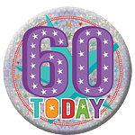 Happy 60th Birthday Badge - 15cm