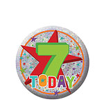 Happy 7th Birthday Badge - 5.5cm