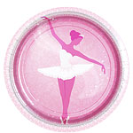 Ballerina Plates - 23cm Paper Party Plates