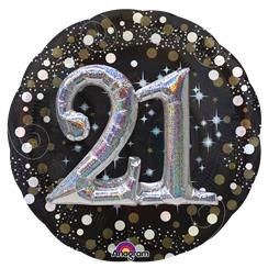 "21st Birthday Sparkling Celebration 3D Balloon - 36"" Foil"