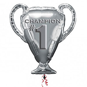 "Champion Trophy Supershape Balloon - 28"" Foil"