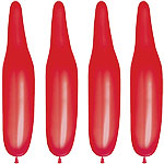 Plain Red Modelling Balloons - 321Q Latex