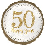 50th Anniversary Foil Balloon - 18""