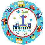 "All Aboard 1st Birthday Balloon - 18"" Foil"
