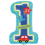 All Aboard 1st Birthday Supershape Balloon - 28'' Foil