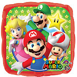 "Super Mario Square Balloon - 18"" Foil"
